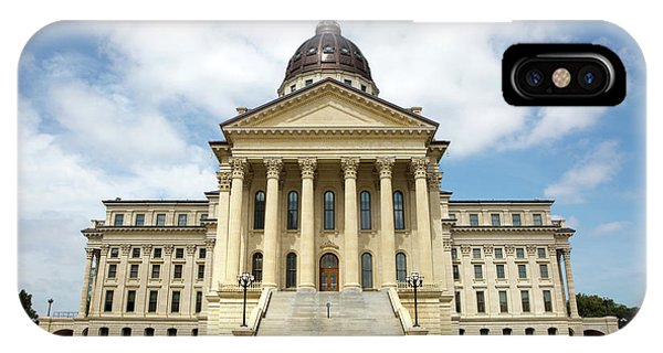 IPhone Case featuring the photograph Kansas State Capitol Building by Steven Frame