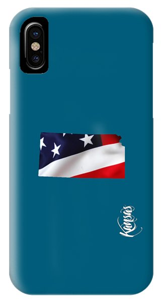 Kansas State Map Collection IPhone Case