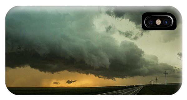 Kansas Storm Chase Bust Day 004 IPhone Case