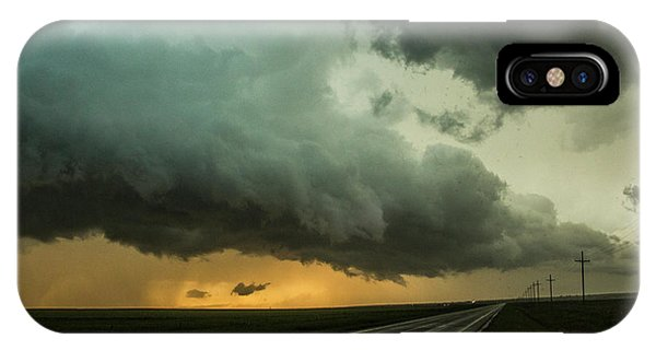 IPhone Case featuring the photograph Kansas Storm Chase Bust Day 004 by NebraskaSC