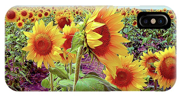 Kansas Sunflowers IPhone Case