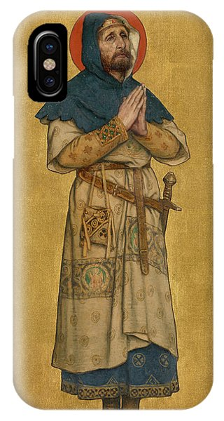 King Charles iPhone Case - Blessed Charles The Good  by Albert De Vriendt
