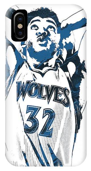 Tickets iPhone Case - Karl Anthony Towns Minnesota Timberwolves Pixel Art by Joe Hamilton