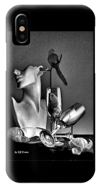 Karo In Black And White IPhone Case