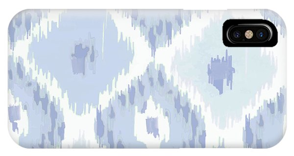 Pattern iPhone Case - Kasbah Blue Ikat by Mindy Sommers