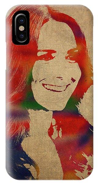 Kate Middleton Watercolor Portrait IPhone Case