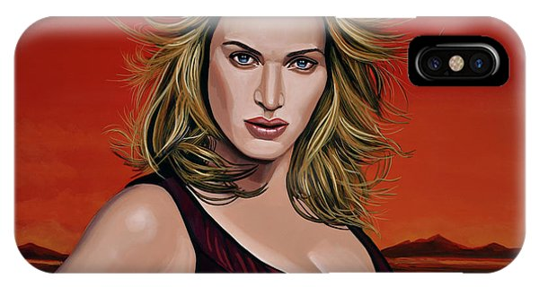 Child Actress iPhone Case - Kate Winslet by Paul Meijering