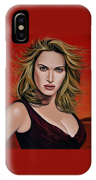 Blond iPhone Case - Kate Winslet by Paul Meijering