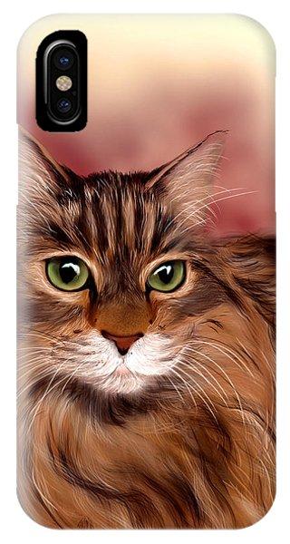Katie- Custom Cat Portrait IPhone Case