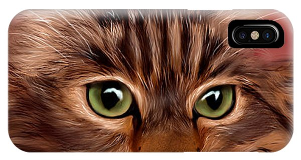 Katie- Custom Cat Portrait IPhone Case