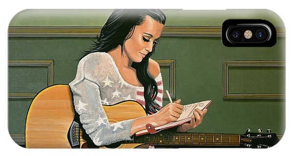Electronic iPhone Case - Katy Perry Painting by Paul Meijering