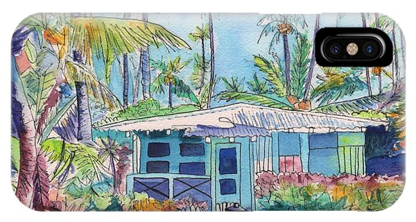 Kauai Blue Cottage 2 IPhone Case