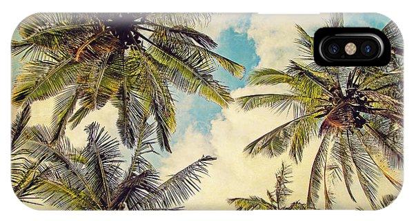 Teal iPhone Case - Kauai Island Palms - Blue Hawaii Photography by Melanie Alexandra Price
