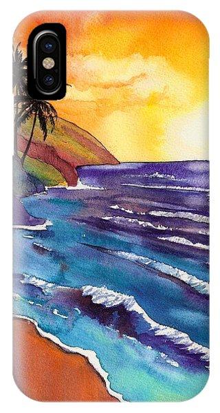 Kauai Na Pali Sunset IPhone Case