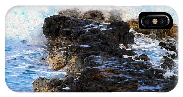 Kauai Rock Splash IPhone Case