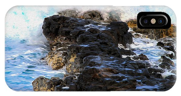 Kauai Rock Splash IPhone Case