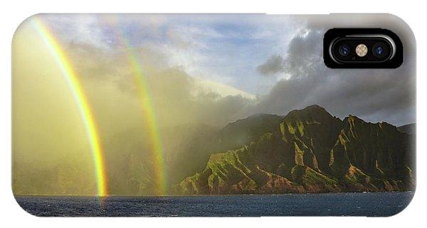 Kauai Sunset Rainbow IPhone Case