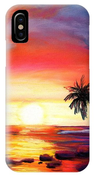 Hawaiian Sunset iPhone Case - Kauai West Side Sunset by Marionette Taboniar