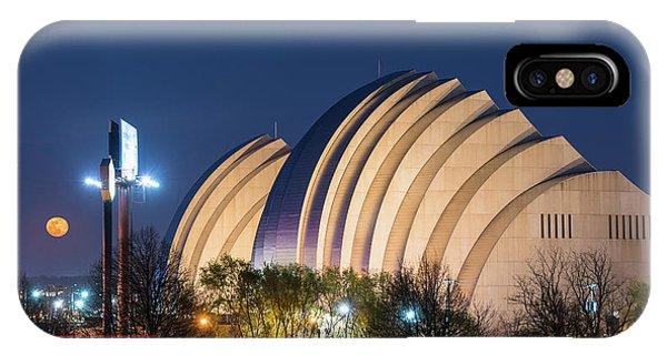 Kauffman Center Moonrise IPhone Case
