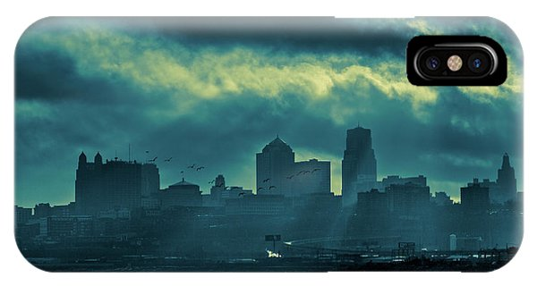 Kaw Point Kansas City Skyline IPhone Case