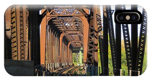 Kaw Point Railroad Bridge IPhone Case