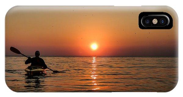 Kayak At Sunset IPhone Case