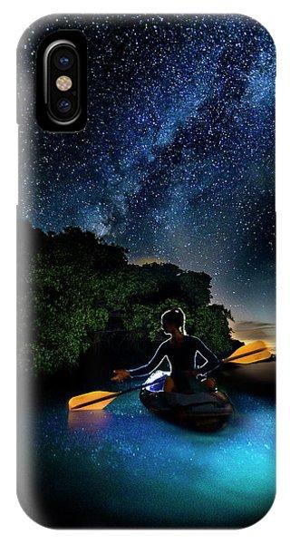 Kayak In The Biobay Under The Milky Way Phone Case by Karl Alexander