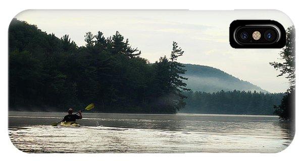 Kayak In The Fog IPhone Case