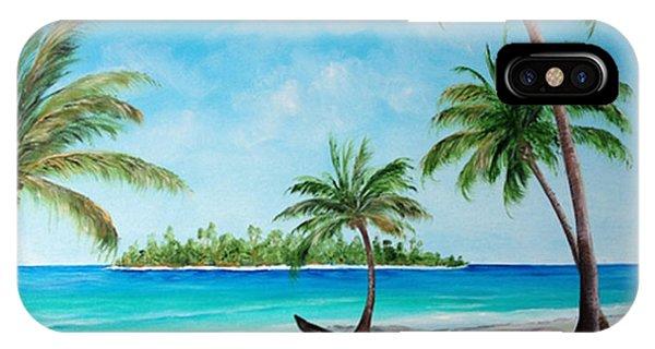 Kayak On The Beach IPhone Case
