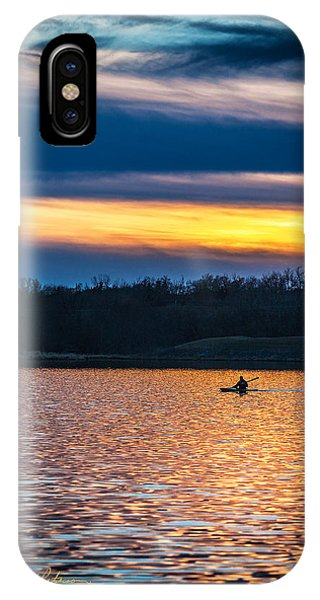 Kayak Sunset IPhone Case