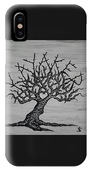 IPhone Case featuring the drawing Kayaker Love Tree by Aaron Bombalicki