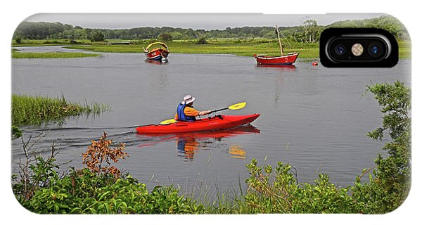 Kayaking On The Herring River IPhone Case