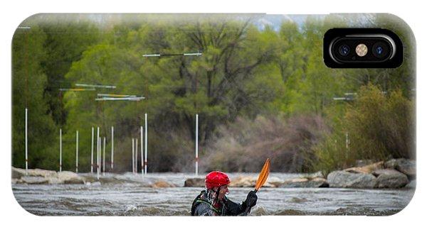 Kayaker On The Arkansas IPhone Case