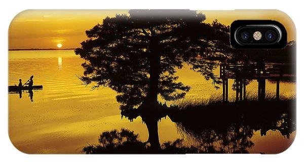 Kayaking At Sunset 2 Obx IPhone Case