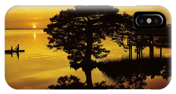 Kayaking At Sunset 2 Obx IPhone Case