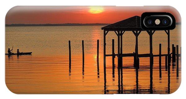 Kayaking At Sunset Obx IPhone Case