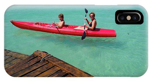 Exploramum iPhone Case - Kayaking Perfection 1 by Exploramum Exploramum