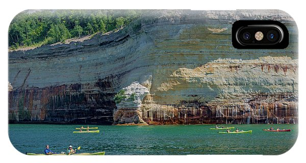Kayaking The Pictured Rocks IPhone Case