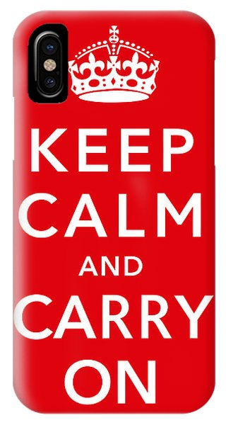 England iPhone Case - Keep Calm And Carry On by War Is Hell Store