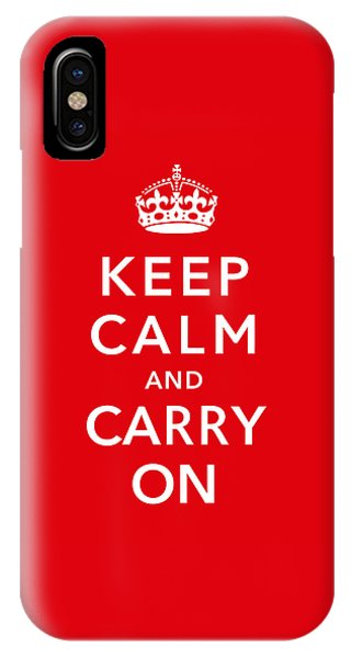 Political iPhone Case - Keep Calm And Carry On by War Is Hell Store