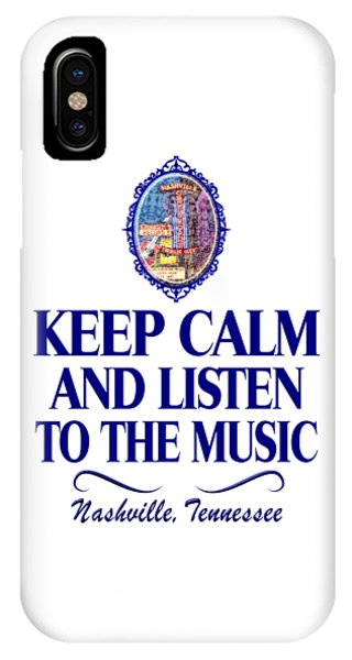 Keep Calm And Listen To The Music IPhone Case