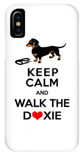 Keep Calm And Walk The Doxie IPhone Case