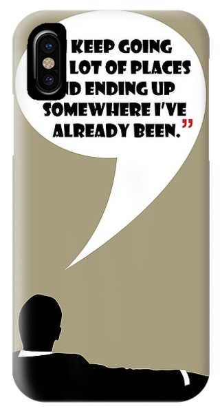 Keep Going Places - Mad Men Poster Don Draper Quote IPhone Case