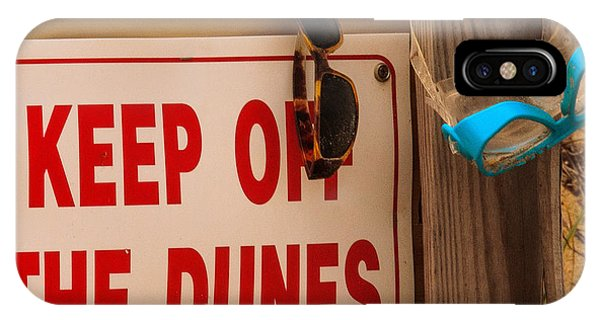 Keep Off The Dunes IPhone Case