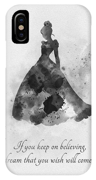 Fairy iPhone Case - Keep On Believing Black And White by My Inspiration