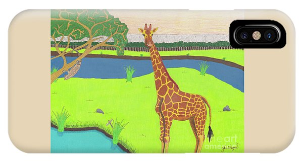 IPhone Case featuring the drawing Keeping A Lookout by John Wiegand