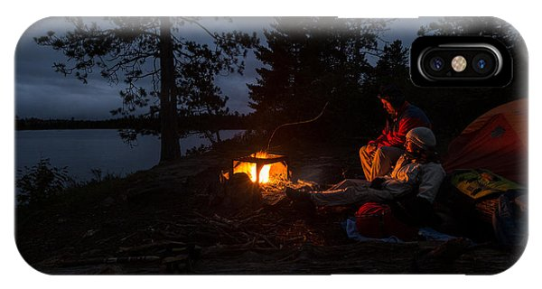 IPhone Case featuring the photograph Keeping Warm by Paul Schultz