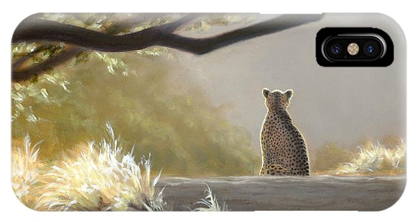 Keeping Watch - Cheetah IPhone Case