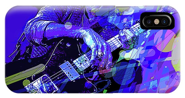 Guitar Legends iPhone Case - Keith Richards Blue by David Lloyd Glover