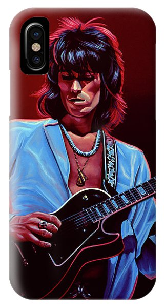 Musicians iPhone X Case - Keith Richards The Riffmaster by Paul Meijering
